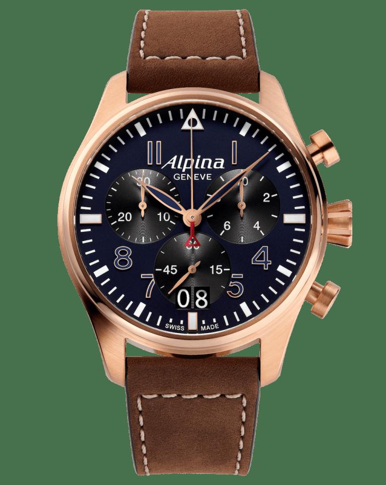 ALPINA STARTIMER PILOT BIG DATE CHRONOGRAPH 44mm AL-372NB4S4 Blue