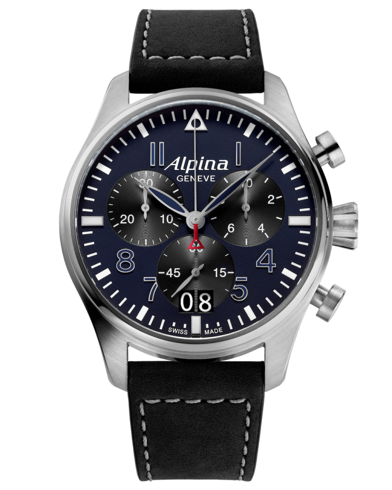 ALPINA STARTIMER PILOT BIG DATE CHRONOGRAPH 44mm AL-372NB4S6 Blue