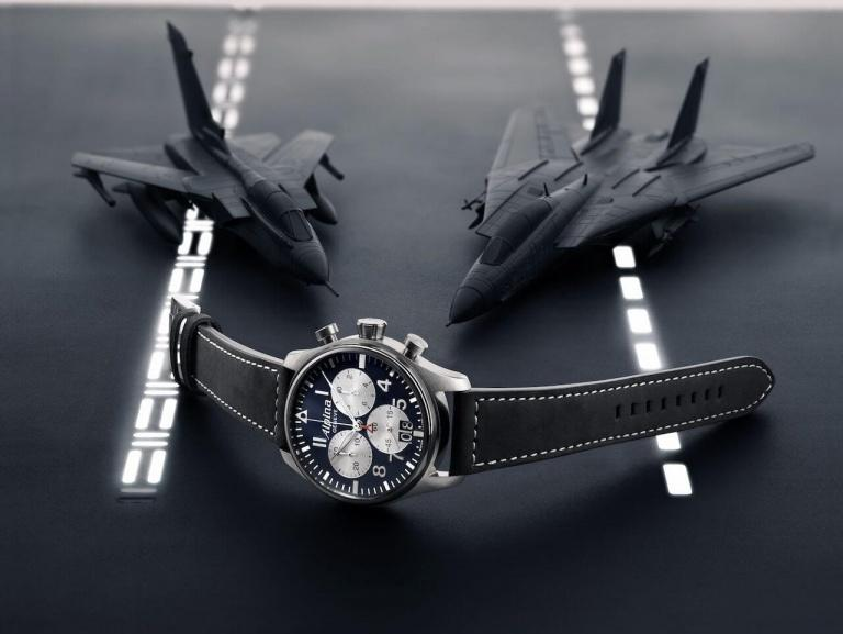 ALPINA STARTIMER PILOT BIG DATE CHRONOGRAPH 44mm AL-372NS4S6 Blue