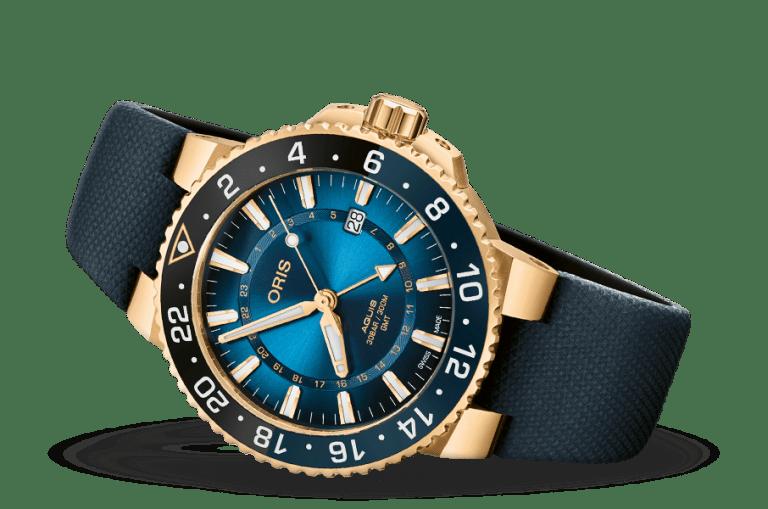 ORIS AQUIS GMT DATE 43.5mm 01 798 7754 6185-Set Bleu