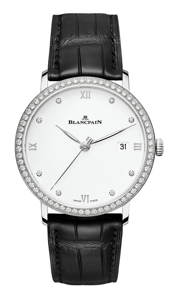 BLANCPAIN VILLERET ULTRA THIN 38mm 6224-4628-55B White