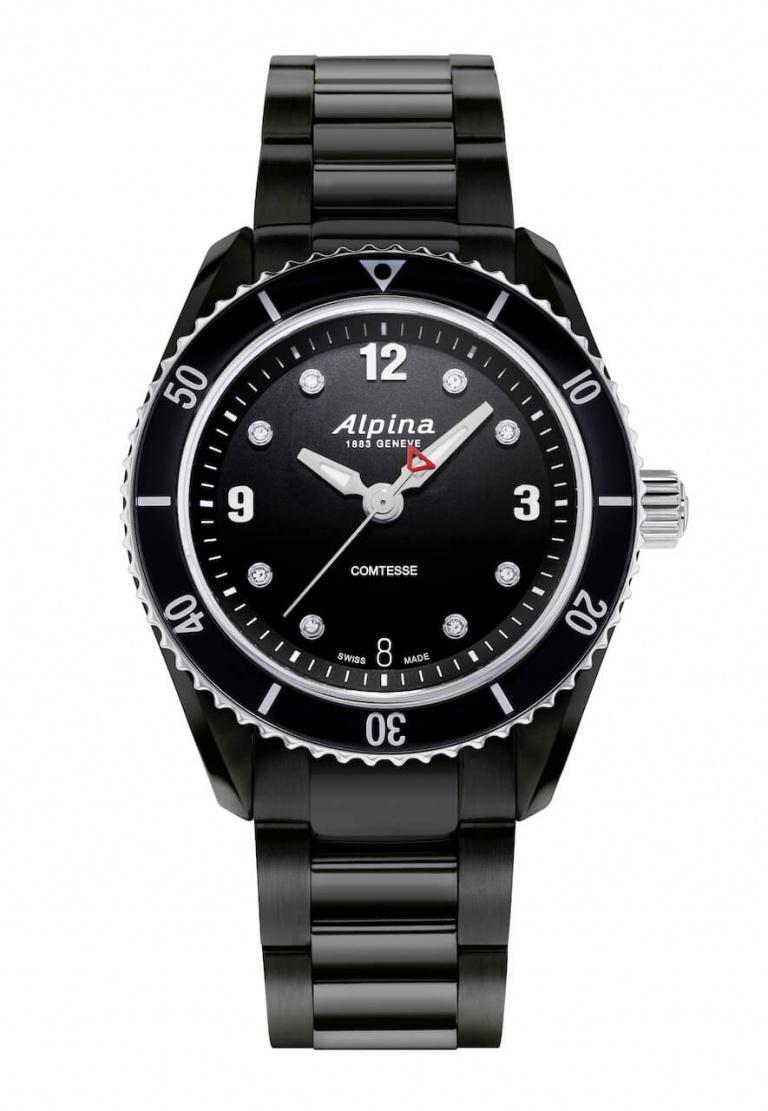 ALPINA COMTESSE SPORT QUARTZ 36.5mm AL-240BD3FBC6B Noir