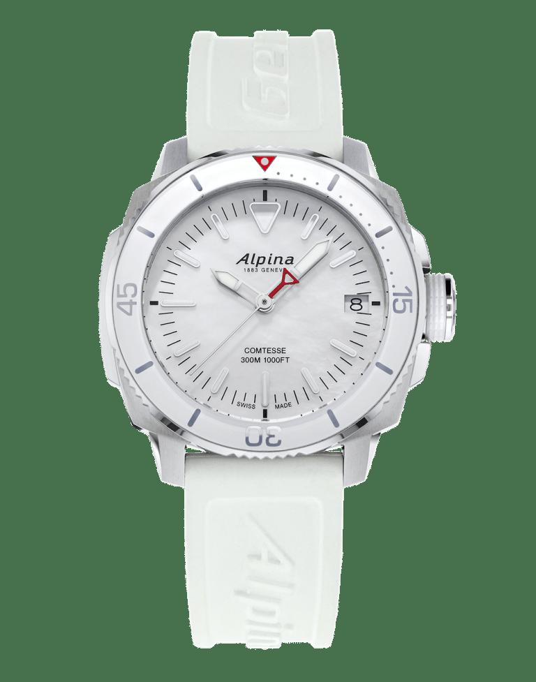 ALPINA SEASTRONG COMTESSE 34mm AL-240MPW2VC6 Blanc