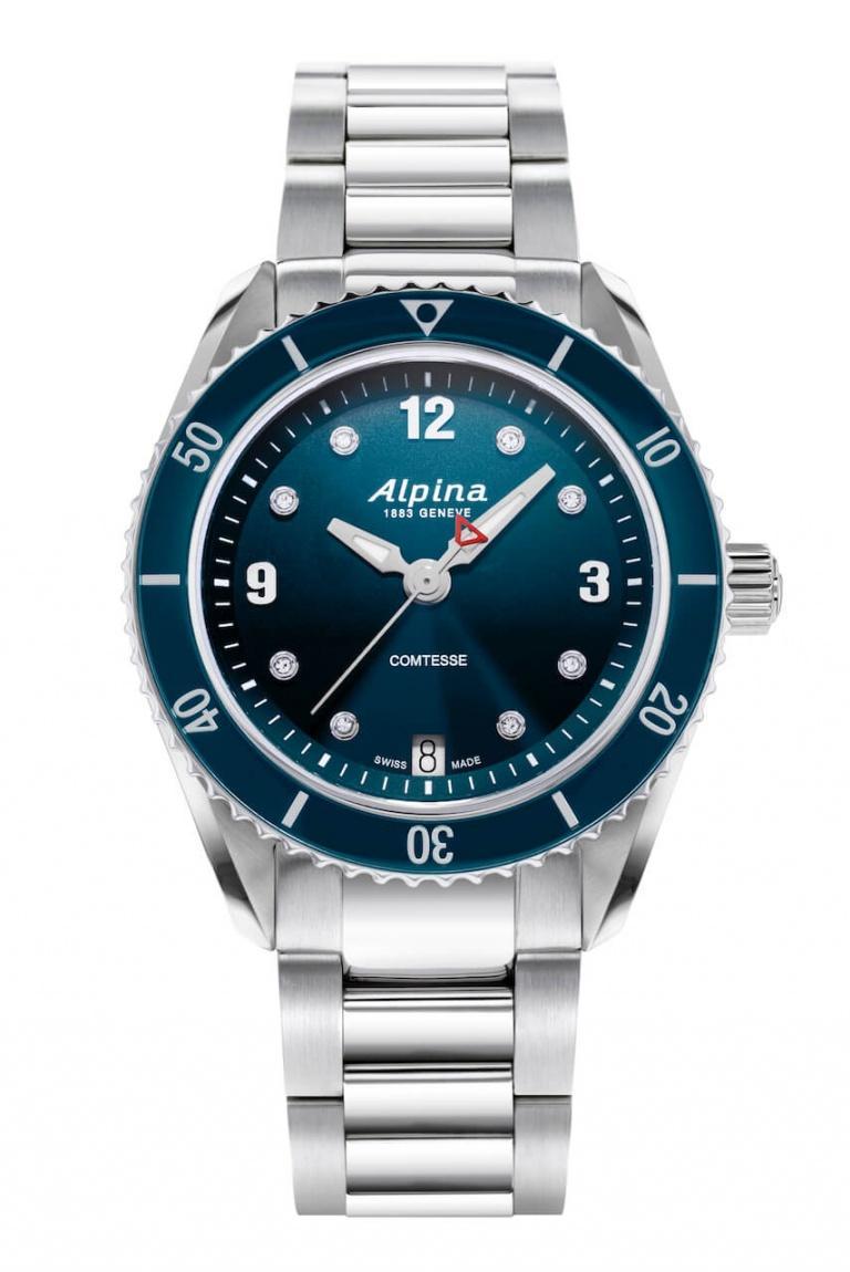 ALPINA COMTESSE SPORT QUARTZ 36.5mm AL-240ND3C6B Blue