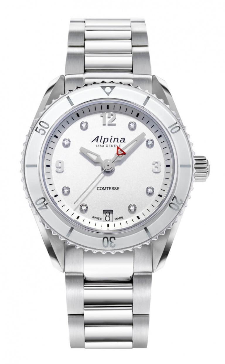 ALPINA COMTESSE SPORT QUARTZ 36.5mm AL-240SD3C6B White