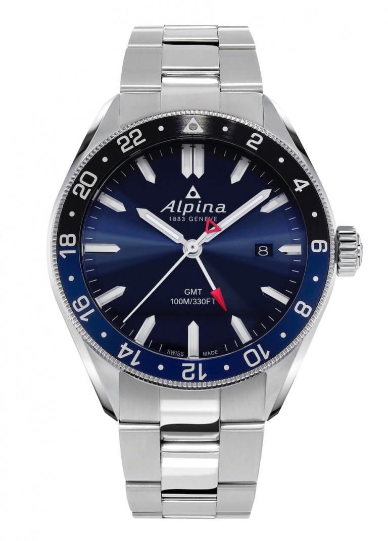 ALPINA ALPINER QUARTZ GMT 42mm AL-247NB4E6B Bleu