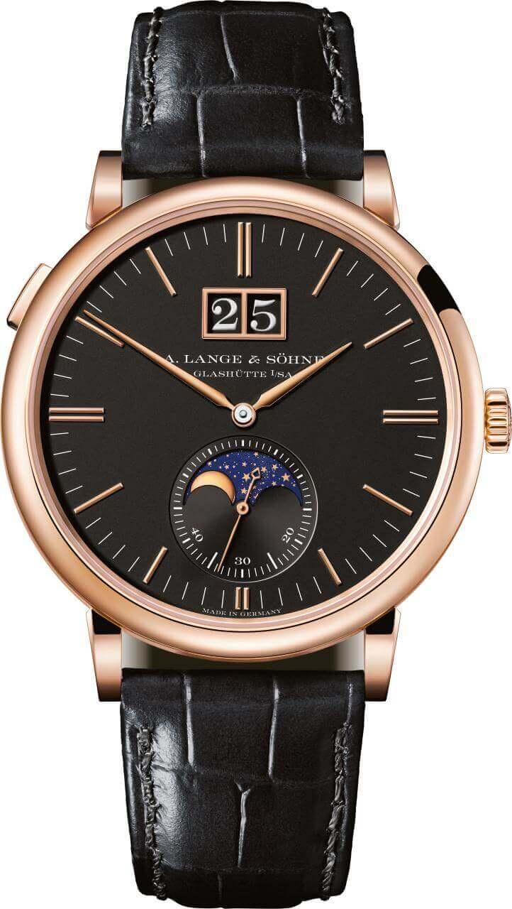 A. LANGE & SOHNE SAXONIA MOONPHASE 40mm 384031 Black