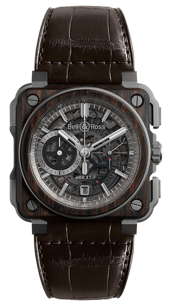 BELL & ROSS EXPERIMENTAL BR-X1 BR-X1 WOOD 45mm BRX1-WD-TI Squelette