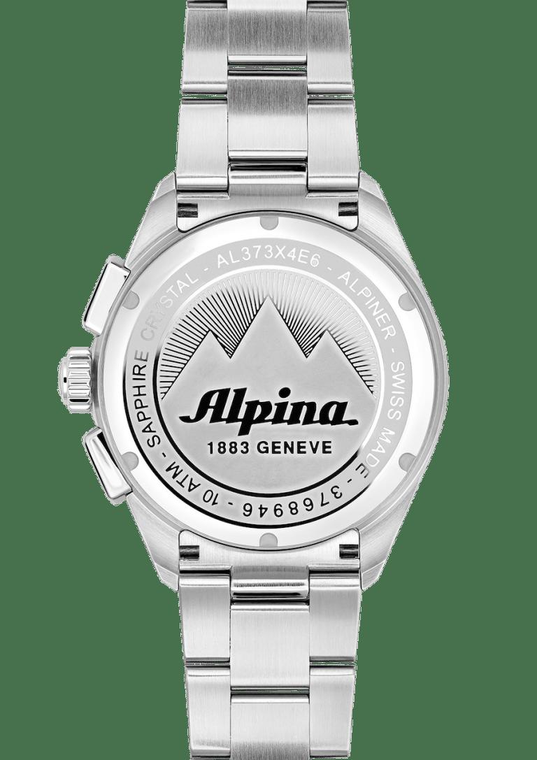 ALPINA ALPINER CHRONOGRAPH QUARTZ 42mm AL-373SB4E6B Silver
