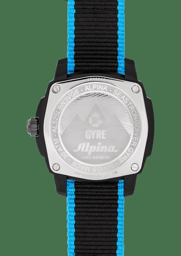 ALPINA SEASTRONG GYRE 36mm AL-525LBN3VG6 Black