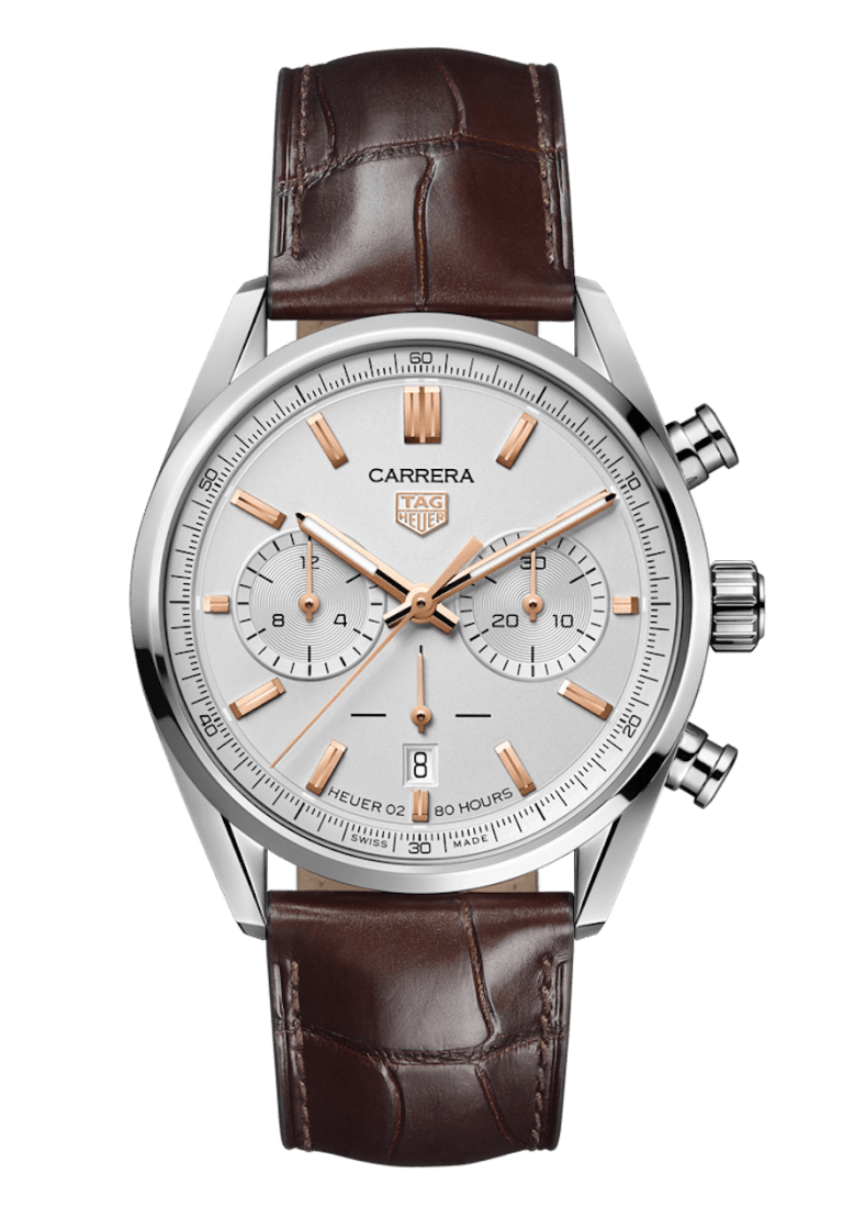 TAG HEUER CARRERA CHRONOGRAPH AUTOMATIC 42mm CBN2013.FC6483 White