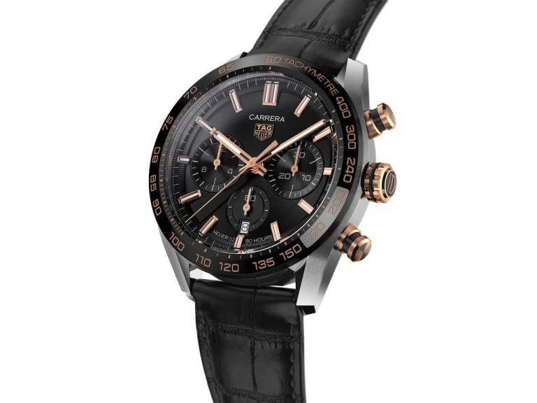 TAG HEUER CARRERA CHRONOGRAPH AUTOMATIC 44mm CBN2A5A.FC6481 Noir