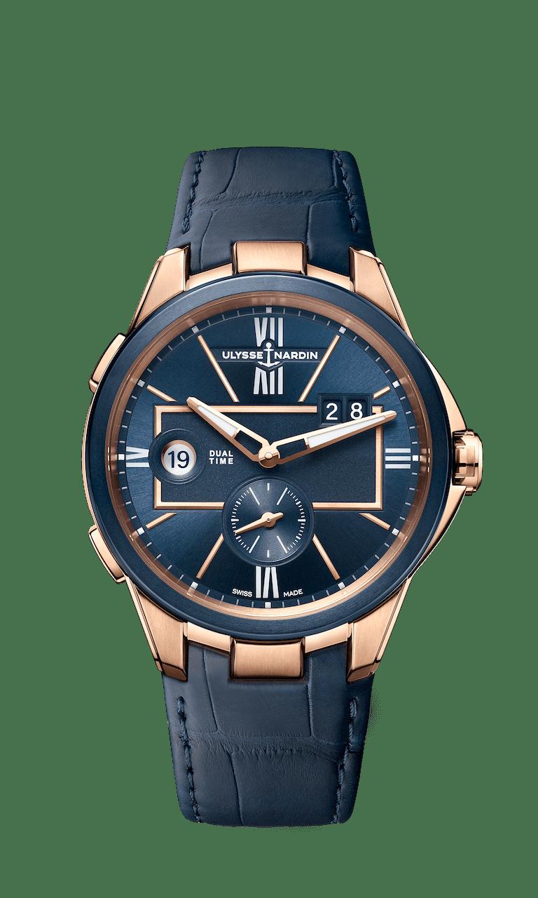 ULYSSE NARDIN EXECUTIVE DUAL TIME 42mm 242-20/43 Bleu