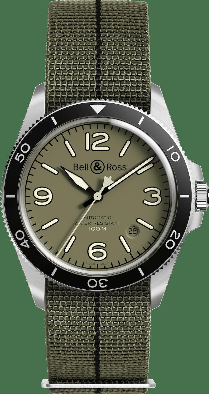 BELL & ROSS VINTAGE BR V2-92 BR V2-92 MILITARY 41mm BRV292-MKA-ST/SF Autres