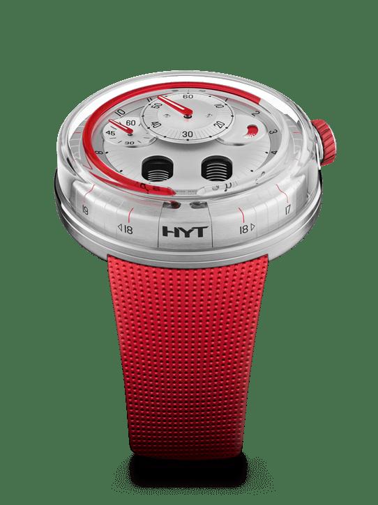 HYT H0 EAU ROUGE 48.8mm 048-AC-95-RF-RU Silver