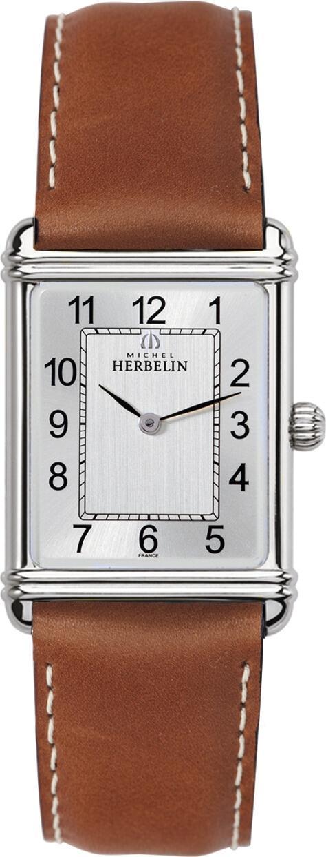 MICHEL HERBELIN ART DECO ONE FOR TWO 26.2mm 17468-22GO Argenté