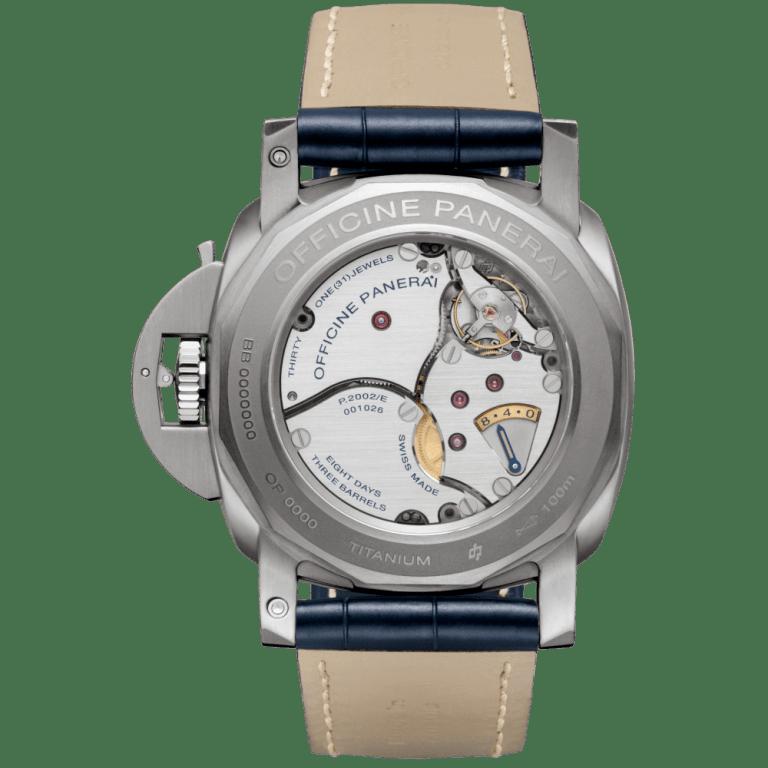 PANERAI LUMINOR EQUATION OF TIME 8 DAYS ACCIAIO 47mm PAM00670 Bleu