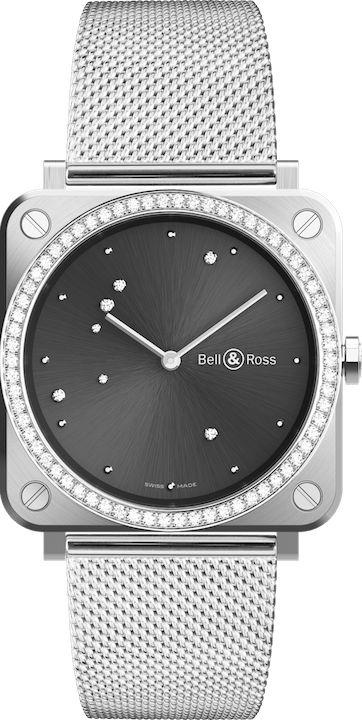 BELL & ROSS BR S QUARTZ BR S GREY DIAMOND EAGLE DIAMONDS 39mm BRS-ERU-ST-LGD-SST Grey