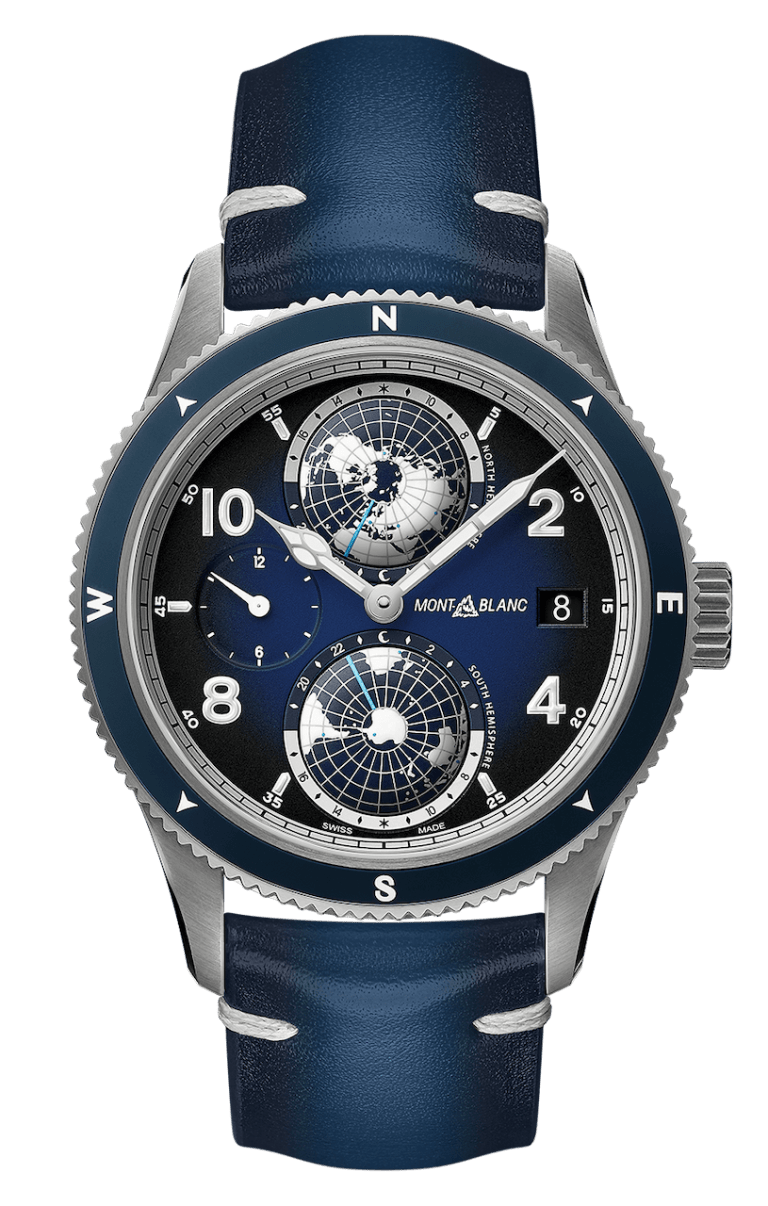 MONTBLANC 1858 GEOSPHERE 42mm 125565 Bleu