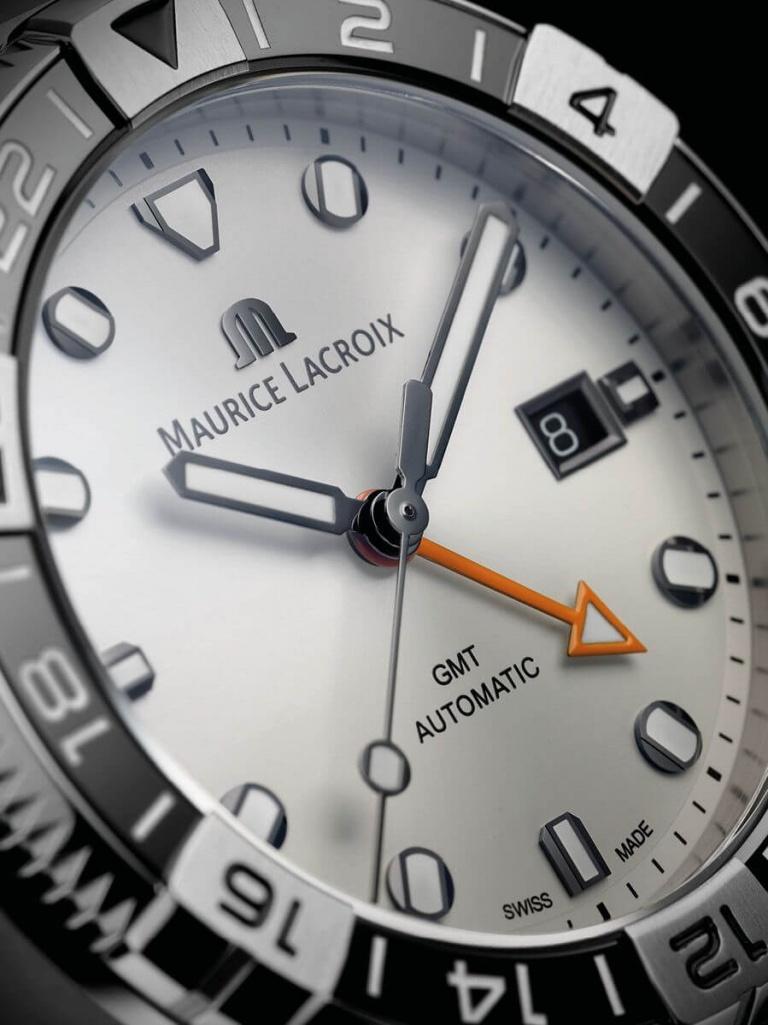 MAURICE LACROIX AIKON VENTURER GMT 43mm AI6158-SS002-130-1 Opaline