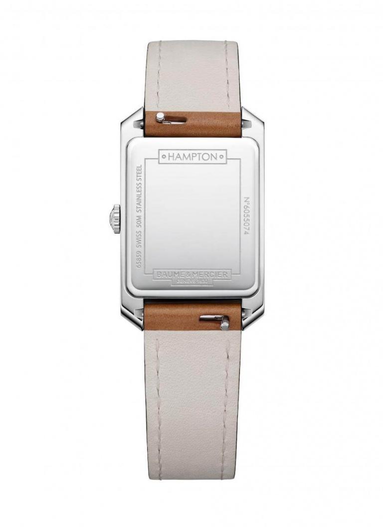 BAUME & MERCIER HAMPTON LADY QUARTZ 35mm 10472 Blanc