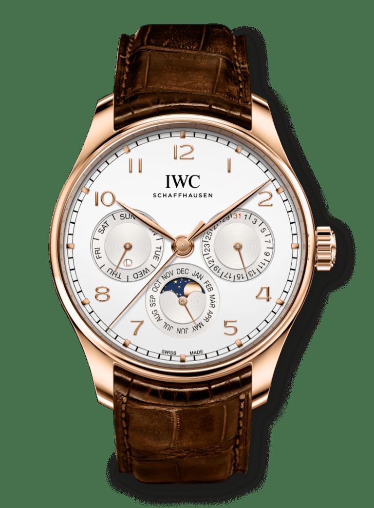 IWC PORTUGIESER PERPETUAL CALENDAR 42.4mm IW344202 Blanc