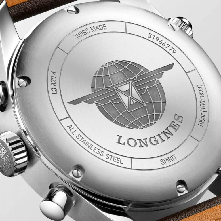 LONGINES SPORT SPIRIT CHRONOGRAPH 42mm L3.820.4.53.0 Black