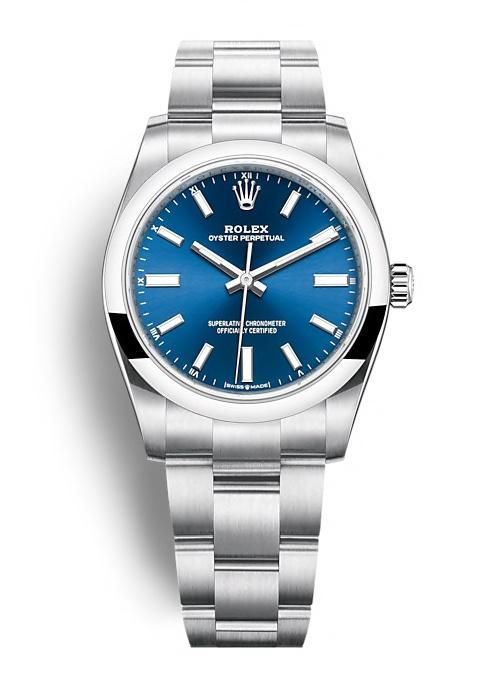 ROLEX OYSTER PERPETUAL OYSTER PERPETUAL 34 34mm 124200 Blue