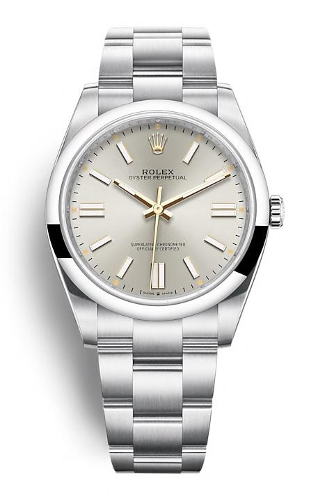 ROLEX OYSTER PERPETUAL OYSTER PERPETUAL 41 41mm 124300 Argenté