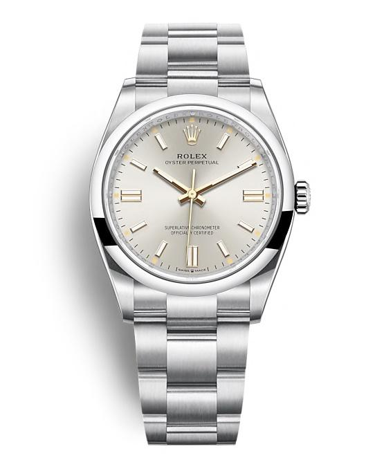 ROLEX OYSTER PERPETUAL OYSTER PERPETUAL 36 36mm 126000 Argenté