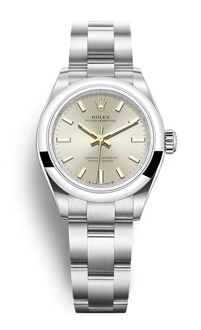 ROLEX OYSTER PERPETUAL OYSTER PERPETUAL 28 28mm 276200 Argenté
