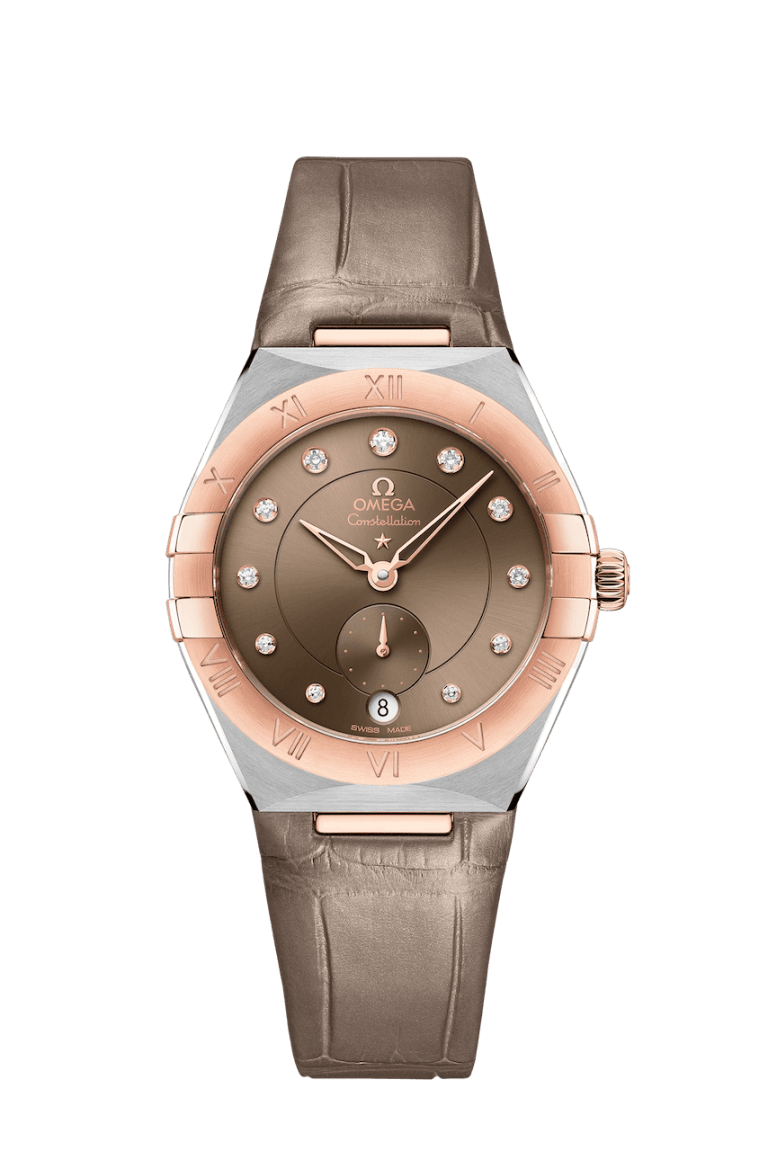 OMEGA CONSTELLATION SMALL SECONDS 34MM 34mm 131.23.34.20.63.001 Marron