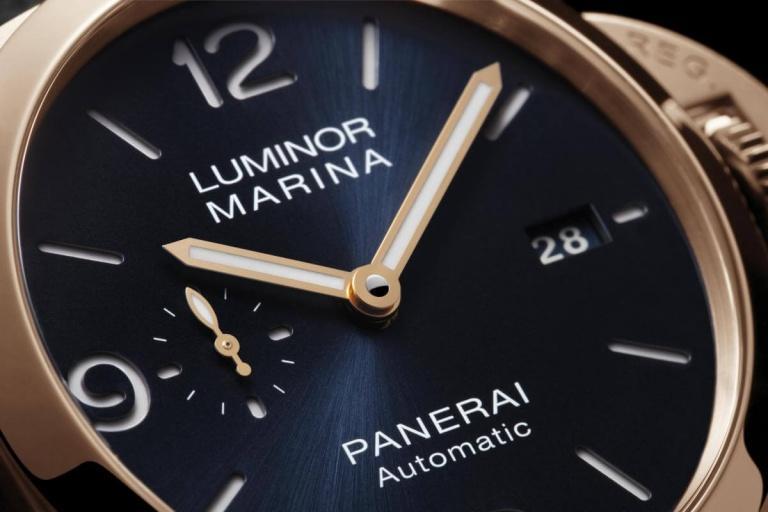 PANERAI LUMINOR MARINA 3 DAYS AUTOMATIC ORO ROSSO 44mm PAM01112 Blue