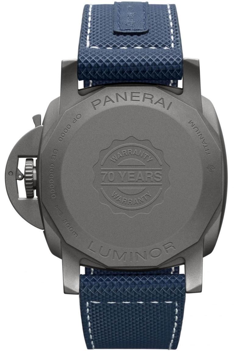 PANERAI LUMINOR MARINA 3 DAYS AUTOMATIC TITANIO 44mm PAM01117 Blue